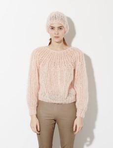 maiami - pleated - sweater - nude